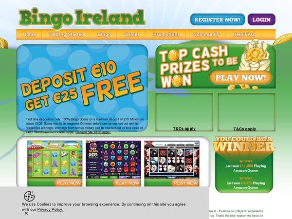 Bingo Ireland Register Form