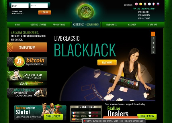 Celtic Casino Top Picks