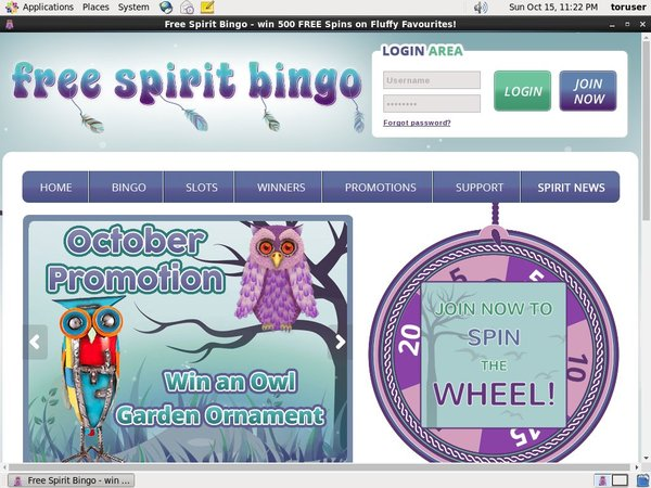 Free Spirit Bingo Betonline