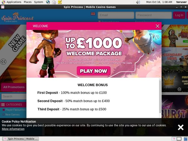 Spinprincess Paypal Offer