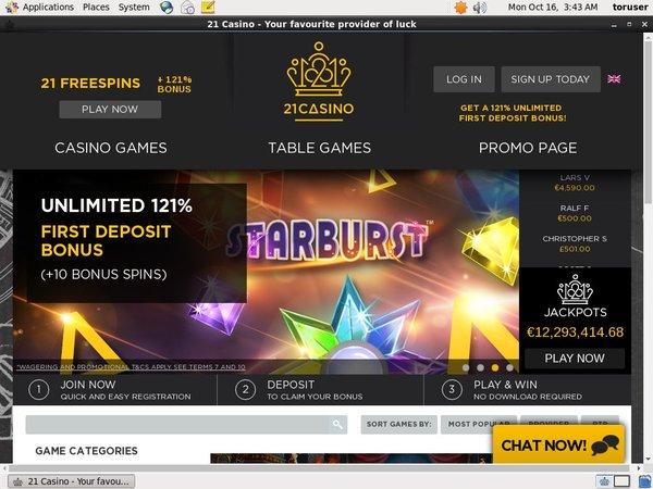 21 Casino Account