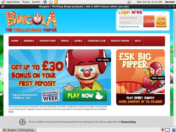 Bingola Mobile Free Spins