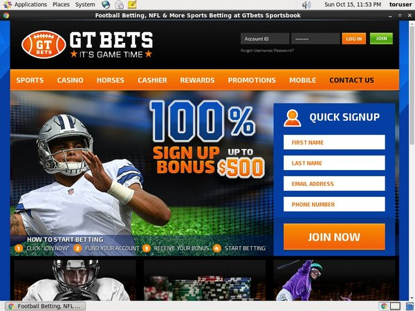 GT Bets Football Create Account