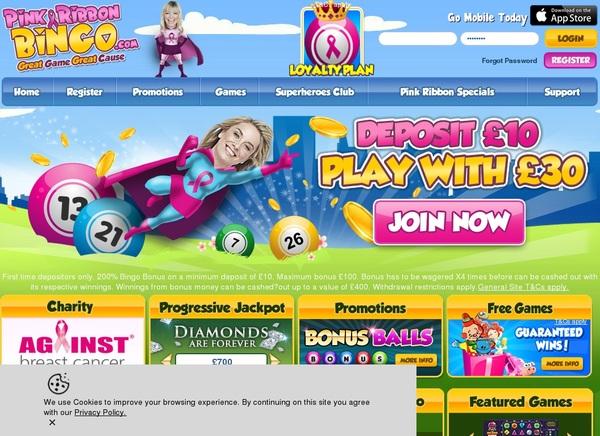 Pink Ribbon Bingo Visa