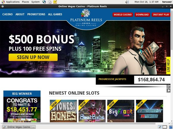 Platinumreels Bonus Bet