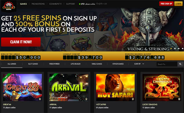 Casinomoons Scratch Games